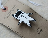 little girl lucy brooch - by elizabeth pawle - modern design - hand drawn hand cut - illustration pin badge