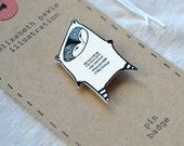 space racoon brooch - by elizabeth pawle - modern design - hand drawn hand cut - illustration pin badge - ElizabethPawle