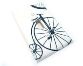 Bicycle light switch cover - vintage black & white