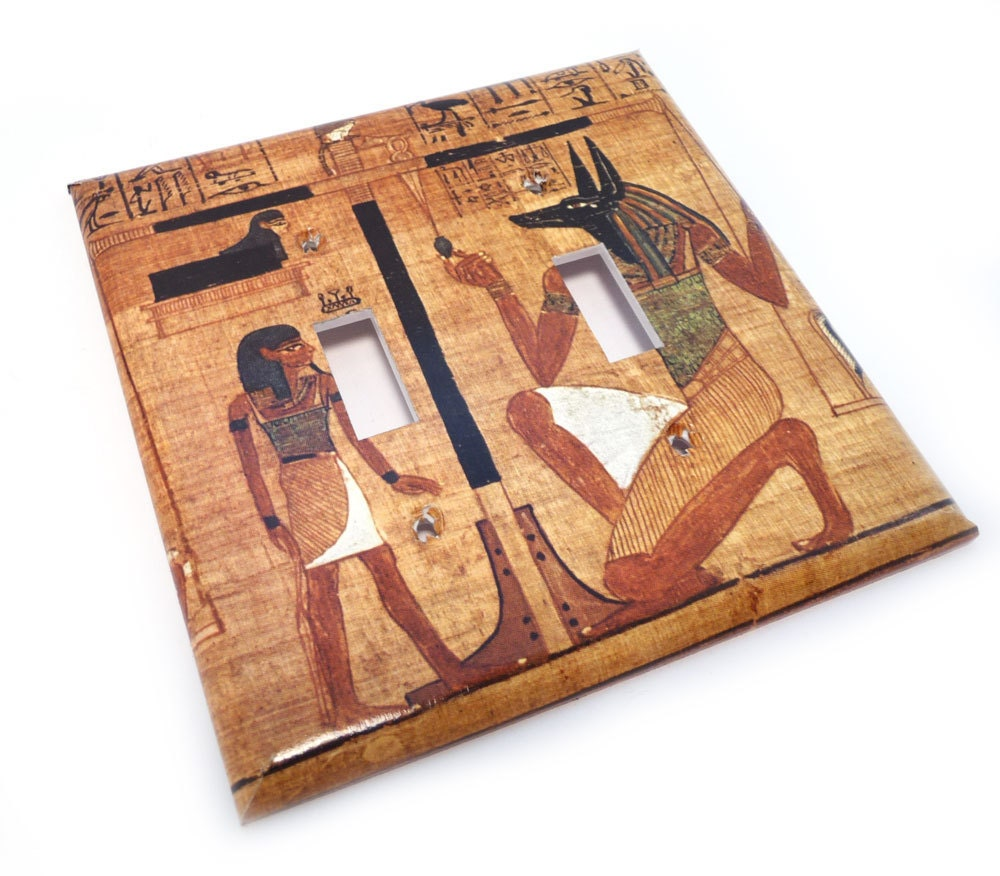 Egyptian Switch Cover Decorative Double Light By Reconpapier
