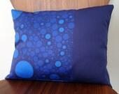 Organic Pillow Cover - Original Mod Moon Design - 12 x 16 - Royal Blue