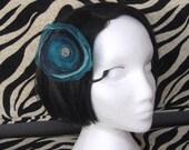 Hair Bloom. Teal And Aqua Blue