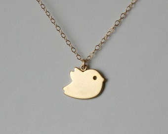 Flower Girl Gift, Baby Bird Necklace, Gift For Girls, Gift For Women, Bird Jewelry, Gold Bird Dainty Necklace, Bridesmaid Gift,New Baby Gift