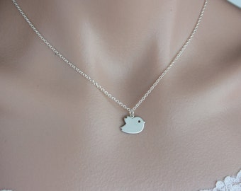 Cute Bird Necklace , New Baby Gift , Baby Shower Gift , Available in Gold & Silver , Baby Bird Jewelry , Gold Necklace, Silver Necklace