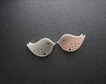Bird earrings, love bird post earrings