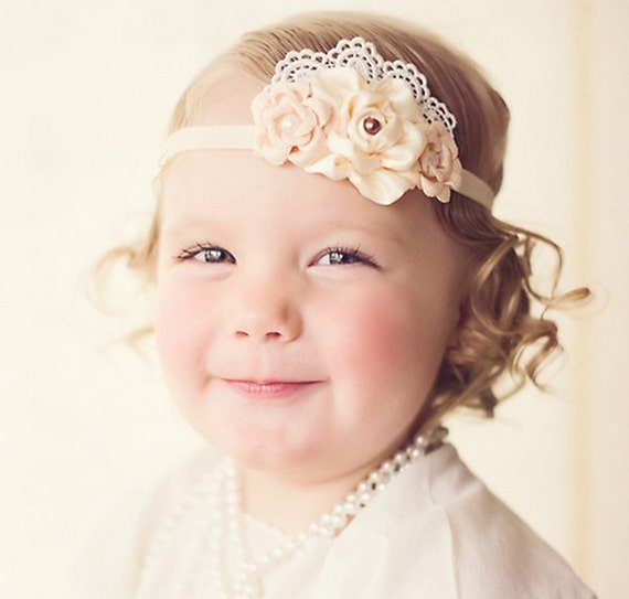 Vintage Inspired Headband Baby Headbands by LittleDivaBoutique