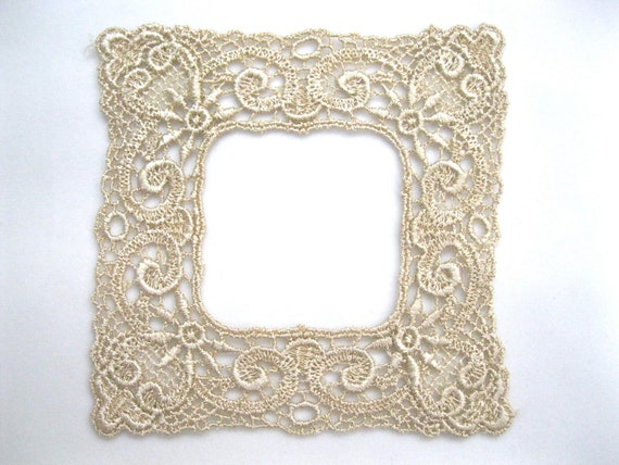 Lace Applique Photo Frame Venice Golden Dyed - Holiday Crafting