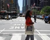 New York City Walk Canvas Tote