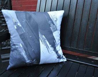 A View of 42nd Street New York CIty Pillow