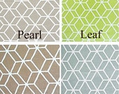 Braemore Diamond Geometric  50x84 Rod Pocket Panels - more lengths to choose from - Pearl, Leaf Green, Robins Egg, Taupe