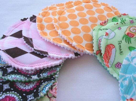 WHOLESALE Washable Breastfeeding Nursing Pads Eco Friendly Made With PUL  -  20 Pads