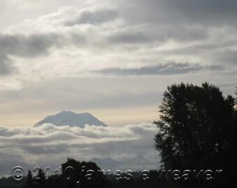 Mt. Rainier Dawn folded greeting card
