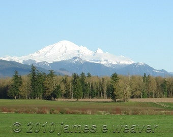 Mt. Baker in View folded greeting card