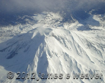 Mount Shasta folded greeting card