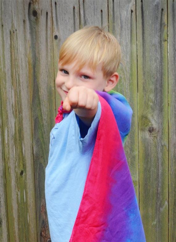 22 x 72 tie dyed play silk scarf