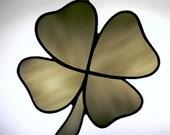 stained glass   Four Leaf Clover  suncatcher