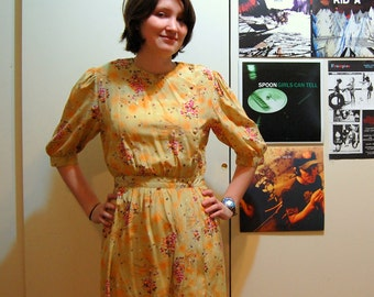 M Vintage 80s Gold Dress