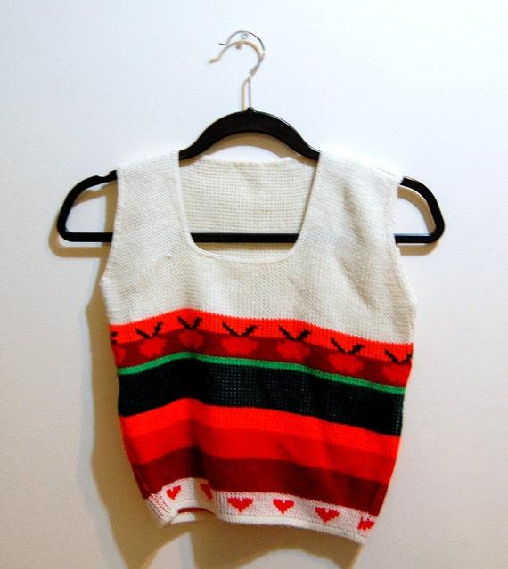 XS Vintage 60s/70s Apple Sweater Vest