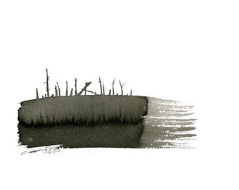 Wetland - Original ink drawing