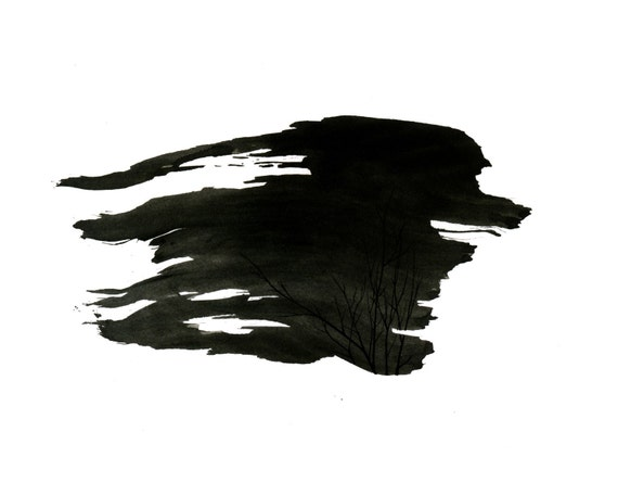Gust - Original Ink Drawing