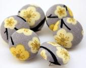 Button Pushpins - Yellow Flowers