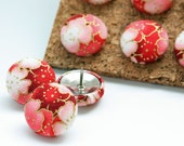 Button Pushpins - Cherry Blossoms - Set of 12