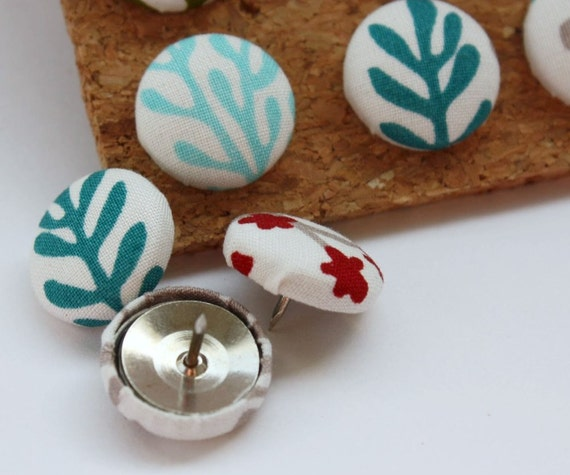 Button Pushpins - Walk in the Woods - Set of 12