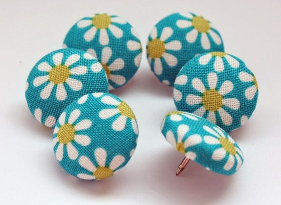 Button Pushpins - Happy Daisies