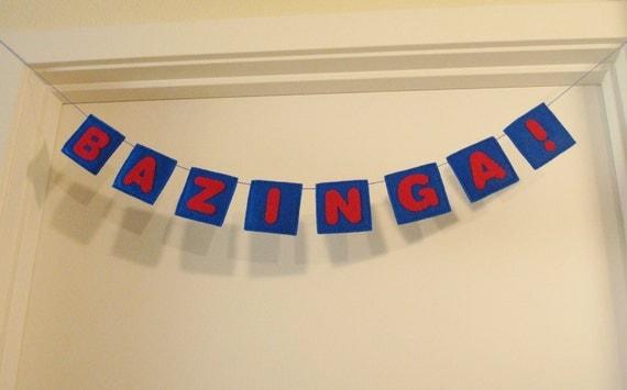 BAZINGA Garland Banner