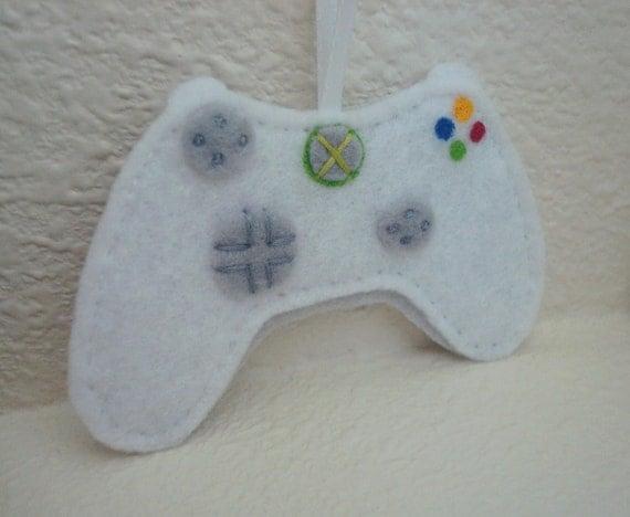 White Controller Ornament