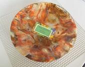Autumn Leaves Glass Bowl
