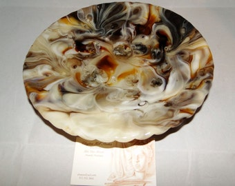 Fused Glass - the Coffee-n-Cream Bowl
