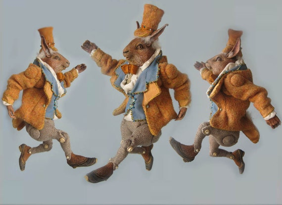 Anthropomorphic Rabbit Doll, fully articulated