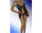 NFL Tennessee Titans Lingerie Negligee Babydoll Sexy Teddy Set with Matching G-String - Size S/M 34C Top, S/M G-string - Ready to Ship