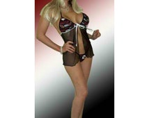 NFL Arizona Cardinals Lingerie Negligee Babydoll Sexy Teddy Set with Matching G-String OR Panty