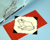 Frog Toad Clear Polymer Rubber Stamp