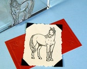 Horse Clear Polymer Rubber Stamp