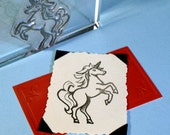 Unicorn Clear Polymer Rubber Stamp