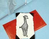 Giraffe Clear Polymer Rubber Stamp