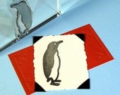 Penguin Clear Polymer Rubber Stamp