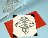 Locked Hearts Clear Polymer Rubber Stamp