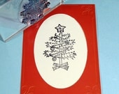 Christmas Tree Clear Polymer Rubber Stamp
