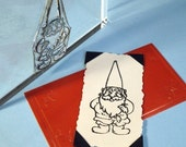 Garden Gnome Clear Polymer Rubber Stamp