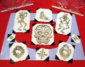 Day of the Dead Set Clear Polymer Rubber Stamp Dia de los Muertos