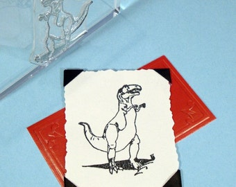 Dinosaur Tyranosaurus Rex Clear Polymer Rubber Stamp T-rex