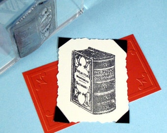 Webster's Dictionary Book Clear Polymer Rubber Stamp
