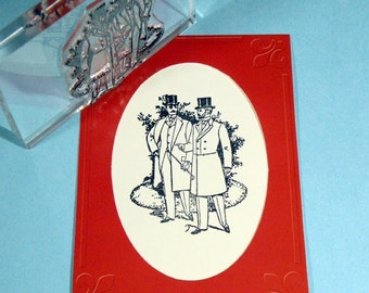 Victorian Gentlemen Clear Polymer Rubber Stamp