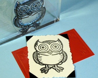 Owl Bird Clear Polymer Rubber Stamp