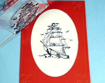 Ship Clear Polymer Rubber Stamp tattoo