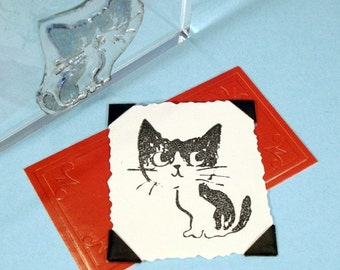 Kitten Cat Clear Polymer Rubber Stamp